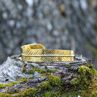 Armreif | Messing | Golden Feather