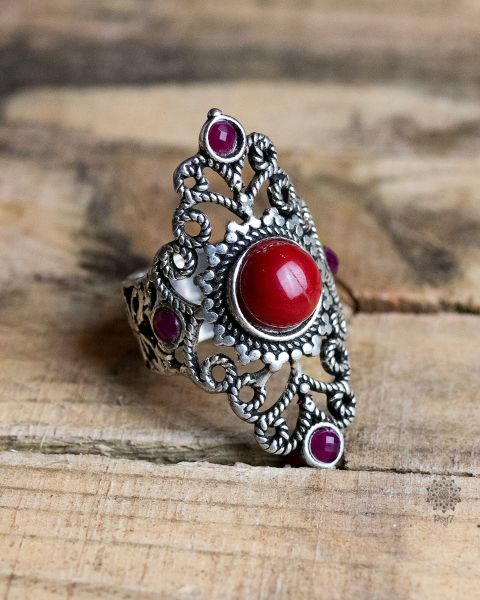 Ring Asti | Koralle-Imitat