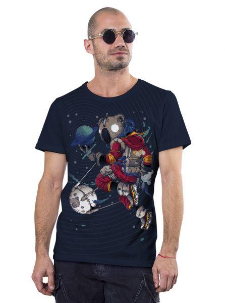 T-Shirt Space Koala | dunkelblau