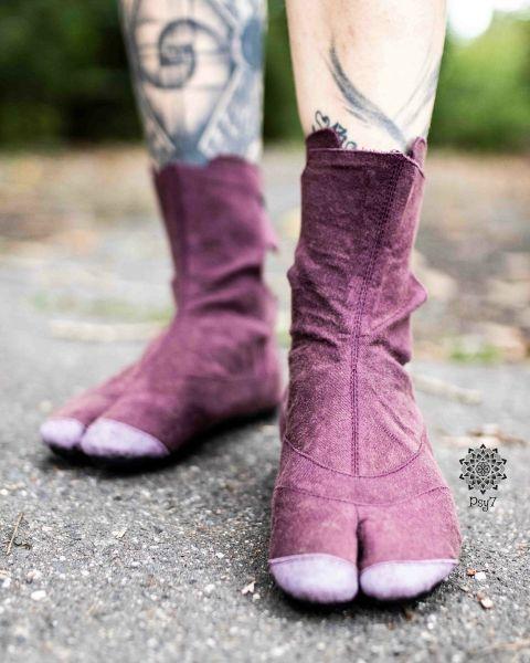 Ninja Shoes | Low Cut - Budo Tabi - wine
