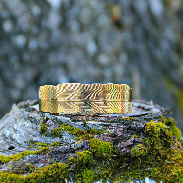 Armreif | Messing | Carved Golden Arrow