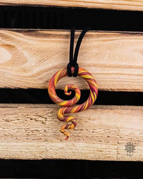 Kette | Anhänger | Fimo-Spirale #04