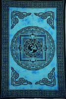 Wandtuch - Bettüberwurf blue OM