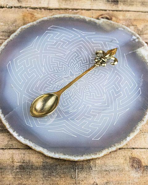 Anhänger Löffel | gold Ornament