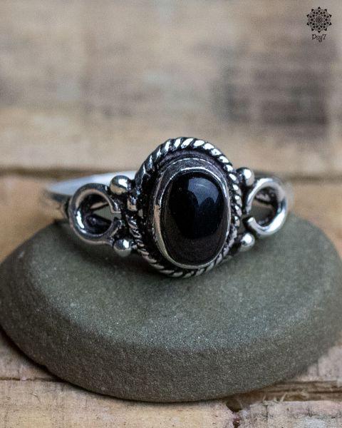 Ring Erin silber | Obsidian