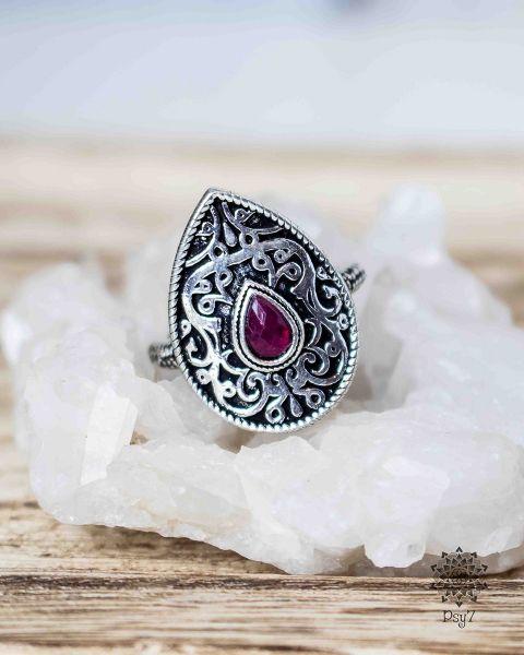 Ring Epona silber | Glas #4