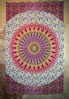 Wandtuch Dekotuch   Mandala floral pink