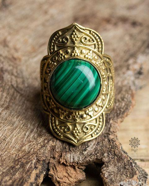 Ring Butiro | Malachit