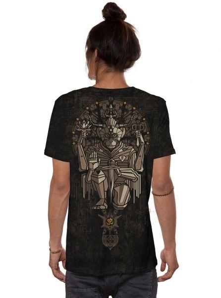 T-Shirt Hanuman | black rust