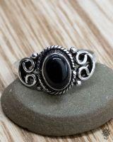 Ring Lykke | Obsidian
