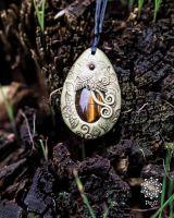 Amulett | Halskette - Tigerauge #4