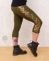 Leggings Pixie | grüne Spitze