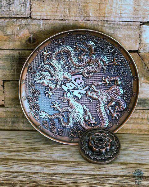 Räucherteller Drache | Kupfer