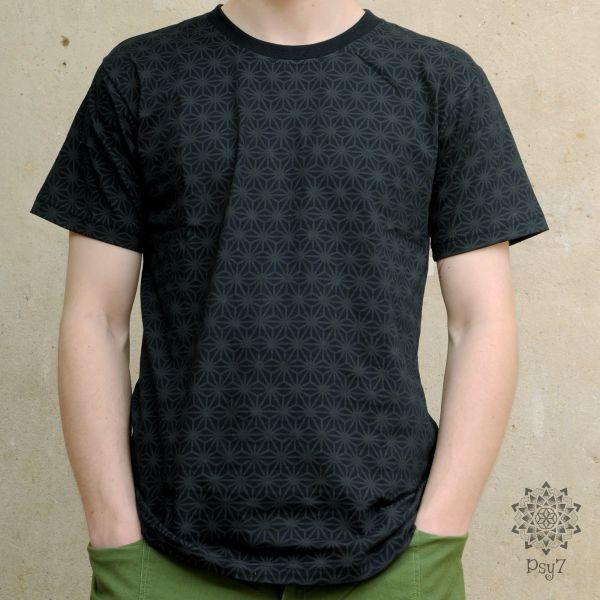 T-Shirt Asanoha   schwarz