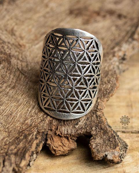 Ring Blume des Lebens | silber