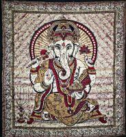 Wandtuch Ganesha | Batik Bordeaux