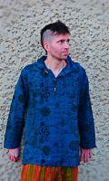 Kapuzenhemd | Goa Hemd - Blau