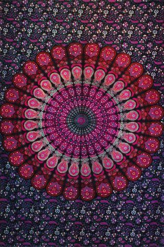 Wandtuch | Überwurf - Berry Mandala Peacock