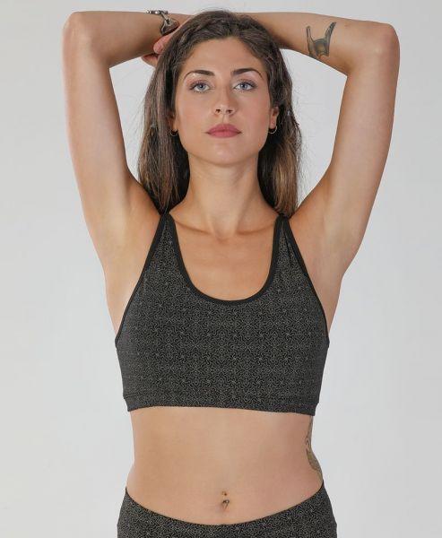 Yoga Top Hamsa   schwarz