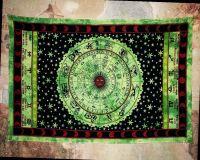 Wandtuch | Dekotuch Horoskop - Grün