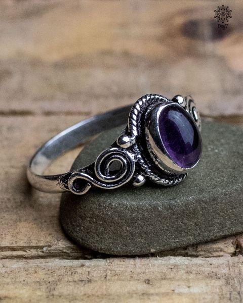 Ring Oda silber | Amethyst