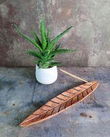 Räucherstäbchenhalter Mangoholz | Blatt