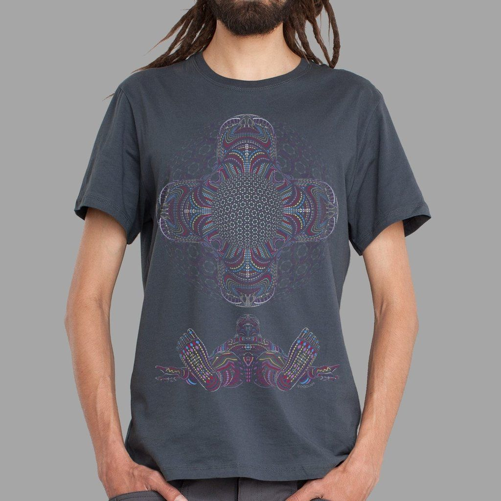 T-Shirt DMT HD grey   UV-aktiv