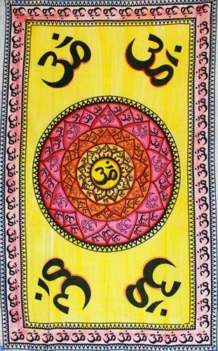 Wandtuch | Überwurf - Hippie OM #1