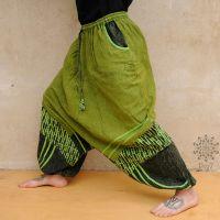 Haremshose Unisex | Saipal grün - stone washed