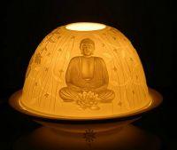 Lichtkuppel | Porzellan Teelicht - Buddha