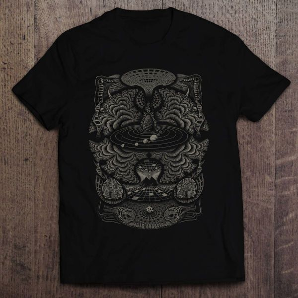 T-Shirt Cosmik Conspiracy | black - olive