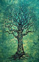 Wandtuch | Überwurf - Baum des Lebens - grün