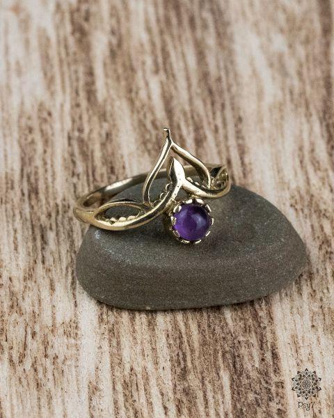 Knuckle Ring Mira | Amethyst