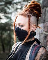 Mund - Nasen - Maske | 2in1 | Snake-Noir