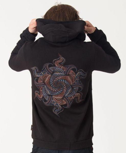 Kapuzenpullover Vortex | schwarz