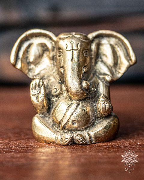 Messingfigur | Ganesha gold