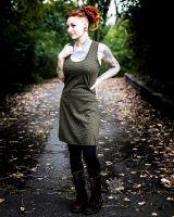 Racerback - Kleid | Blume des Lebens | grün