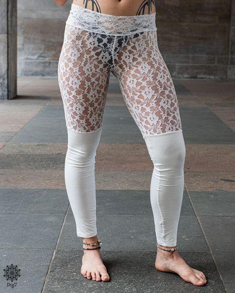 Leggings Boho   weiß