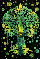 Wandtuch | Überwurf - Buddha Tree
