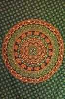 Wandtuch - Bettüberwurf - Circle Verde