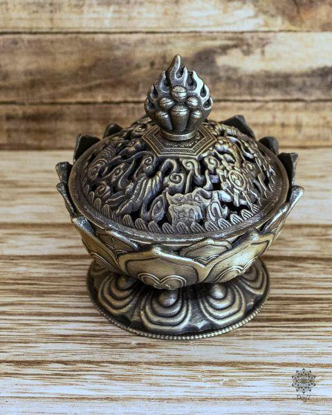Räuchergefäß Lotus | Bronze