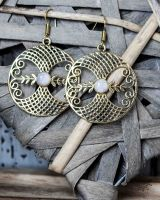 Ohrringe | Ornament - Mondstein #1
