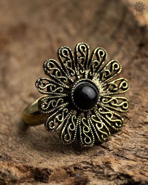 Ring Flor | Obsidian
