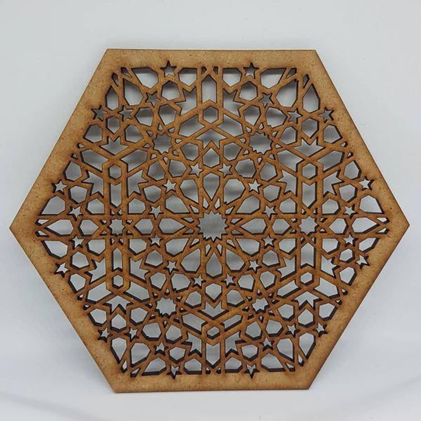 Laser Cut Coaster Persian - 14cm