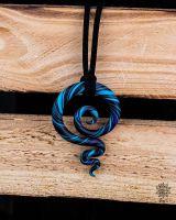 Kette | Anhänger | Fimo-Spirale #03