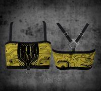 Bandeau Top – Circuitboard | gelb